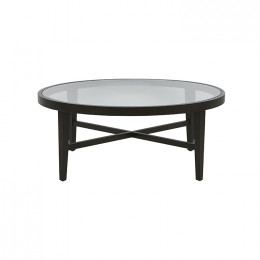 Ascot Round Glass Coffee Table