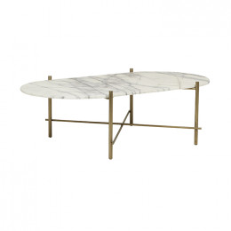 Elle Pipe Oval Coffee Table