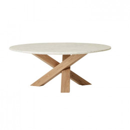 Hudson Round Marble Coffee Table