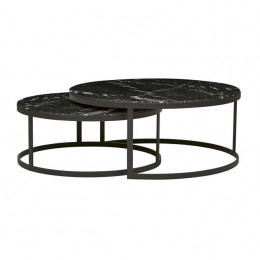 Elle Flat Metal Nest Coffee Tables