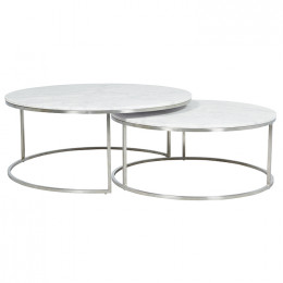 Elle Round Marble Nest Coffee Tables