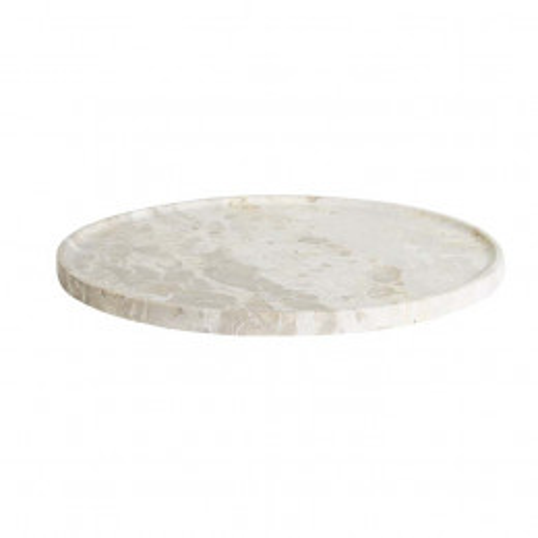 Ridge Round Marble Plates