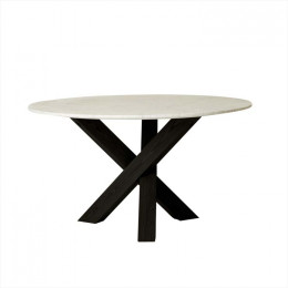 Hudson Round Marble Dining Tables