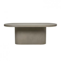Ossa Concrete Oval Dining Table