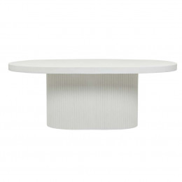 Ossa Ribbed Oval Dining Table