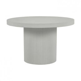 Ossa Ribbed Round Dining Table