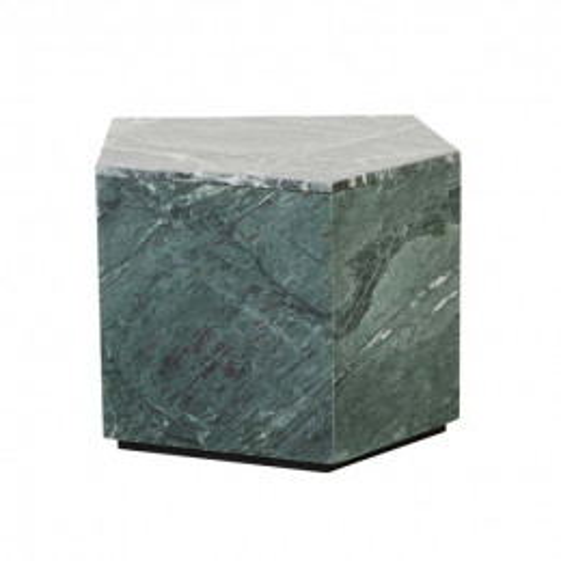 Rufus Block Asymmetrical Marble Side Table