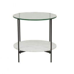 Clermont Layer Marble Side Table