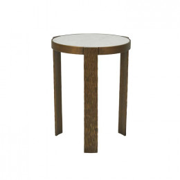 Verona Etch Marble Side Table