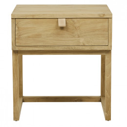 Willow Leather Tab Bedside