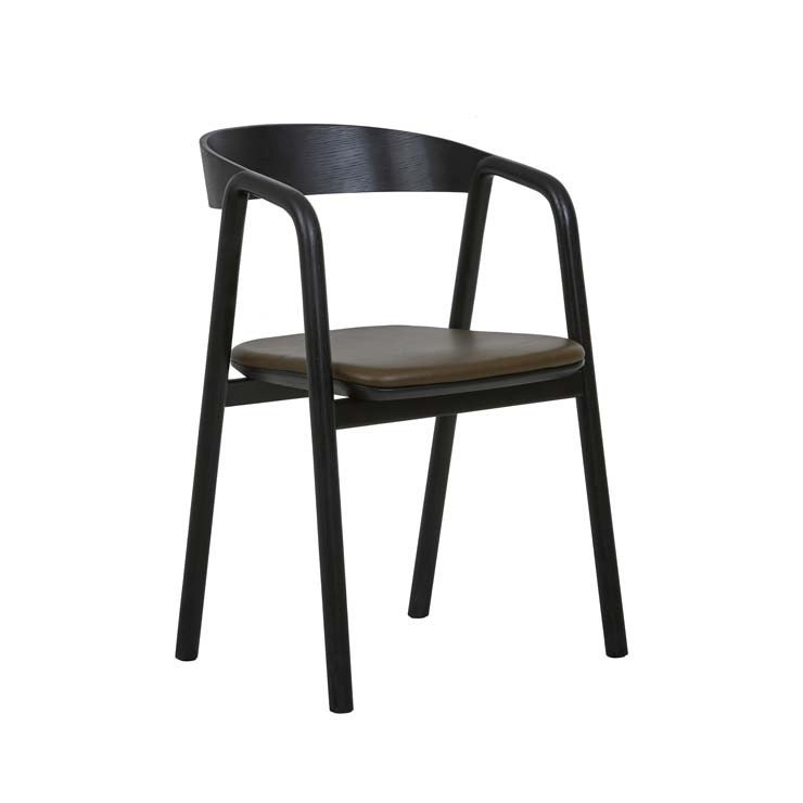 Tolv Inlay Upholstered Dining Arm Chair