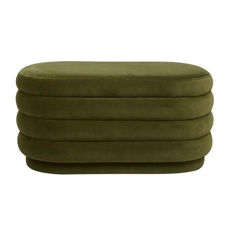 Kennedy Ribbed Oval Ottoman