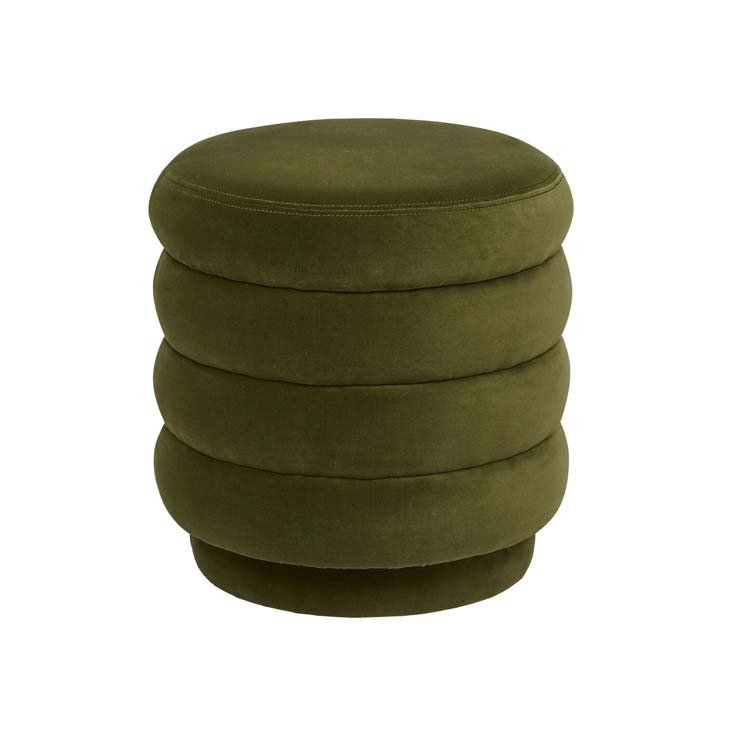 Kennedy Ribbed Round Ottoman